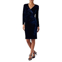 Monsoon - Blue 'Marianna' velvet dress