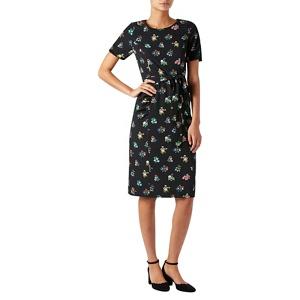 Monsoon Black floral print 'Carolina' knee length shift dress