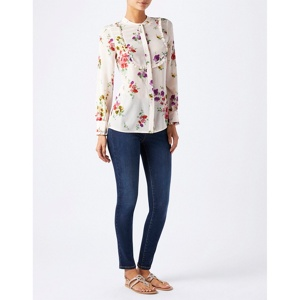 Monsoon Pink Annie' print silk top