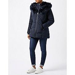 Monsoon - Blue 'Elm' short padded coat