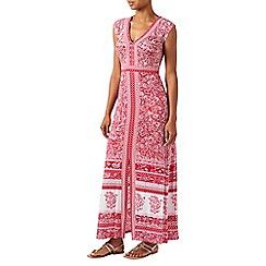 Monsoon - Red jersey 'Coco' V-neck maxi dress