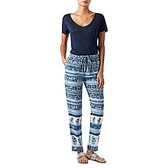 Monsoon - Blue Mia' printed pack trousers