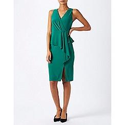 Monsoon - Green sheila frill jersey dress