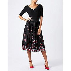 Monsoon - Black eva embroidered skirt