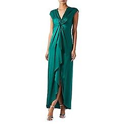 Monsoon - Green Macey' ruffle maxi dress