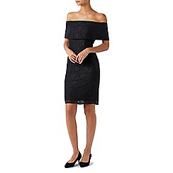 Monsoon - Black Barbara' bardot lace dress