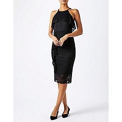 Monsoon - Black fara frill lace dress