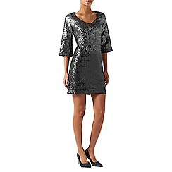 Monsoon - Silver 'Obelia' ombre sequin dress