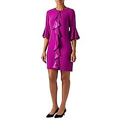 Monsoon - Purple 'Rocco' ruffle tunic dress