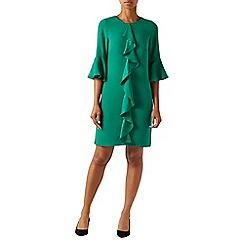Monsoon - Green 'Rocco' ruffle tunic dress