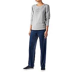Monsoon - Grey 'Bubbles' puff sleeve sweatshirt