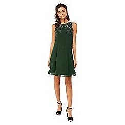 Monsoon - Green 'Marta' embroidered dress