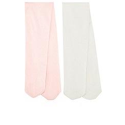Monsoon - Baby girls' Pink 2 Pack Nylon Tights