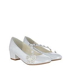 Monsoon - Girls' white fluttering Butterfly charleston shoes