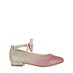 Monsoon - Girls' pink ombre bow flat shoes
