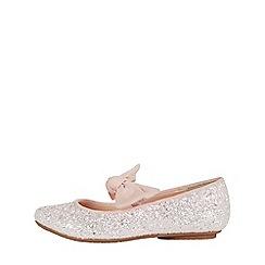 Monsoon - Girls' Pink Beautiful Glitter Bow Ballerina