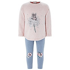 Monsoon - Pink baby girls' 'Molly Mouse' top and legging set