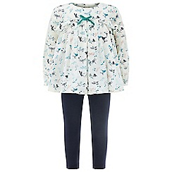 Monsoon - Baby girls' blue berry blouse set