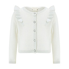 Monsoon - Baby girls' white 'Lottie' frill cardigan