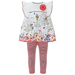 Monsoon - Baby girls' red 'Tansy' woven set