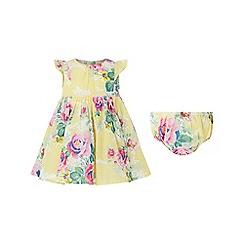 Monsoon - Yellow new born baby girls 'Sunshine' dress