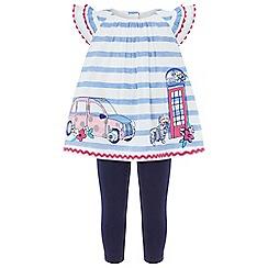 Monsoon - Baby girls' blue 'Rhoda' london top and leggings set
