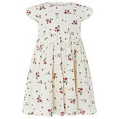 Monsoon - Baby girls' white 'Pandora' print dress