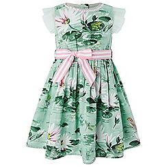 Monsoon - Baby girls' blue 'Lily' dress