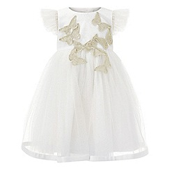 Monsoon - Baby girls' white 'Flourish' dress
