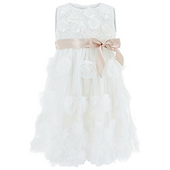 Monsoon - Baby girls' white 'Rosie-Nola' Dress