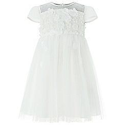 Monsoon - Baby girls' white 'Flourish' Flower dress