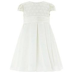 Monsoon - Baby girls' white 'Ellylia' dress