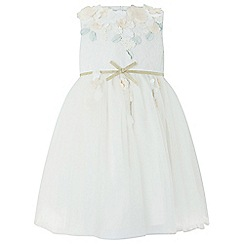 Monsoon - Baby girls' white 'Papillon Blossom' dress