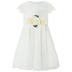 Monsoon - Baby girls' white 'Angelina' dress