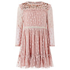 Monsoon - Girls' pink 'Juniper' dress
