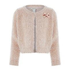 Monsoon - Girls' pink 'Beth' bow cardigan