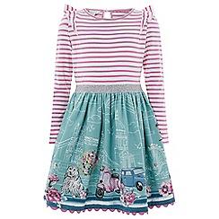 Monsoon - Girls' Pink 'Kate London' 2in1 Dress