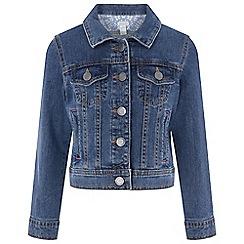 Monsoon - Girls' Blue Plain 'Enid Denim' Jacket