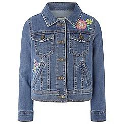 Monsoon - Girls' blue 'Fleur Denim' jacket