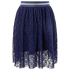 Monsoon - Girls' blue 'Lily' pleat skirt
