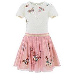 Monsoon - Girls' pink 'Disco Bug' dress