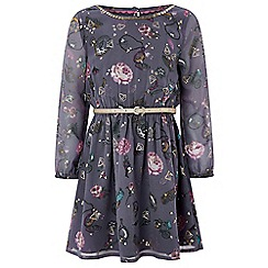 Monsoon - Girls' purple 'Charmed' georgette dress