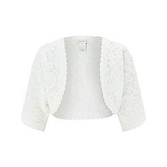 Monsoon - Girls' White 'Gigi' Lace Cardigan