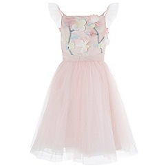 Monsoon - Girls' Pink 'Fleur' Dress