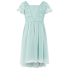 Monsoon - Girls' Green 'Felicitia' Dress