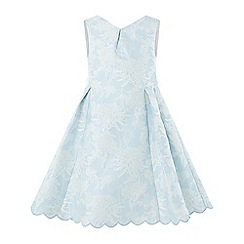 Monsoon - Girls' Blue 'Eletta Jacquard' Dress