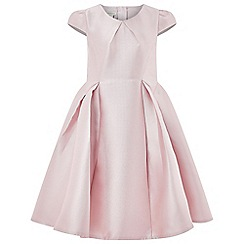 Monsoon - Girls' pink 'Yumiko' plain Duchess dress
