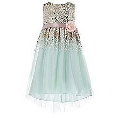 Monsoon - Girls' green 'Cloudia' dress