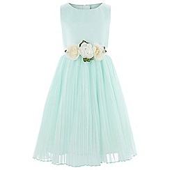 Monsoon - Girls' Green 'Marilyn' Stripe Dress