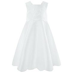 Monsoon - Girls' White 'Tulip Scallop' Dress